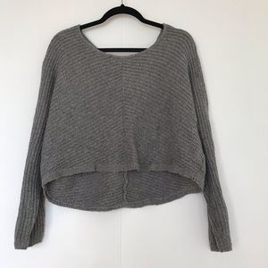 COVET | CROPPED CHUNKY KNIT SWEATER